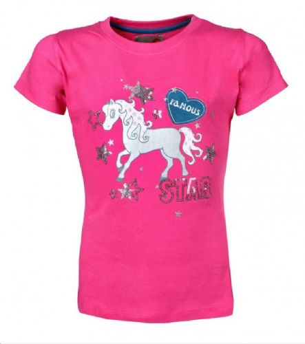 Red Horse T-Shirt in Cerise